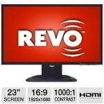 "Revo RM23-OR1 23"" Wide LCD Security Monitor - 1920 x 1080, 16:9, 60Hz, 1000:1 Native, 5ms, HDMI, VGA, DVI"