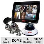 This 4-channel security system offers 3x  Bullet Cameras, 1x Dome Camera and a 500GB DVR so you can supervise the areas that need to be monitored.