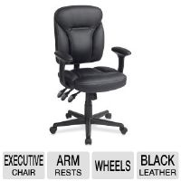 TECHNI MOBILI RTA-9105 Leather Managerial Chair - Black