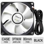 Gelid Silent FN-SX08-16 80mm Case Fan - Silent Operation, Optimized Fan Blades, High Airflow & Static Pressure, Rubber Fan Mounts, 20.72 CFM