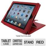 rooCASE RC-IPD2CON-RD Convertible Leather Case for iPad 2 - Red