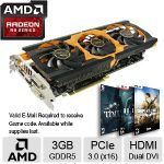 Sapphire TOXIC Radeon R9 280X Video Card - 3GB GDDR5, PCI-Express 3.0 (x16), AMD CrossFireX - 11221-01-40G - 3 FREE Games up to $150 value after purchase, limited offer