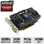 MSI Radeon R7 260x 2GD5 OC Graphics Card - 2GB GDDR5, PCI Express x16 3.0, AMD Radeon� R7 260X, 1175MHz Core Clock, Overclocked Performance - R7260X2GD5OC