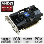 MSI Radeon R7 250 Video Card 2GB DDR3, PCI-Express 3.0 (x16), Overclocked,  - R7 250 2GD3 OC