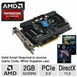 MSI AMD RADEON R7 265 2GD5 ARMOR OC Graphics Card - 2GB GDDR5, 256-bit, DirectX 11.2, OpenGL 4.3 - R7 265 2GD5 OC (2 FREE Games up to $110 value after purchase, limited offer)