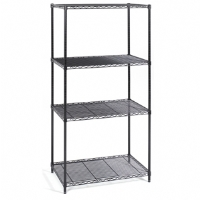 Safco Industrial 36-inches x 24-inches Wire Shelving Starter Unit Black