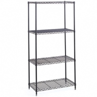 Safco Industrial Wire Shelving Starter Unit 18x36in Black