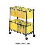 Safco� Two-Tier Rolling File Cart