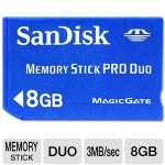 Sandisk 8GB Memory Stick Pro Duo - (SDMSPD-8192-A11)