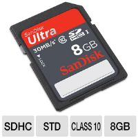 SanDisk Ultra SDSDU-008G-A11 SDHC UHS-I Flash Memory Card - 8GB, Class 10, 30MB/s Write Speed