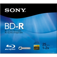 Sony BNR25RH 25GB 2X BD-R Disc in Jewel Case