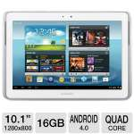 "Samsung Galaxy Note 10.1 GT-N8013ZWYXAR Tablet - Android 4.0 Ice Cream Sandwich, Quad-Core 1.4GHz Processor, 10.1"" Touchscreen, 16GB Storage, WiFi, Dual Webcams, S Pen, White"