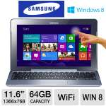 "Samsung ATIV Smart PC - Intel Atom Z2760 1.8GHz, 2GB DDR2, 64GB eMMC, 11.6"" Display, Windows 8 32-bit, Includes Keyboard Dock (XE500T1C-A01US)"