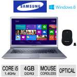 "Samsung Series 9 13.3"" Core i5 128GB SSD Ultrabook and Gear Head Wireless Nano Mouse Bundle"