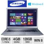 "Samsung Series 9 Ultrabook - 3rd generation Intel Core i5-3317U 1.7GHz, 4GB DDR3, 128GB SSD, Backlit Keyboard, 15"" Display, Windows 8 64-bit, Silver (NP900X4D-A05US)"