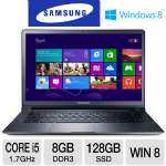 "3rd generation Intel Core i5-3317U 1.7GHz, 8GB DDR3, 128GB SSD, 15"" Display, Windows 8 64-bit"