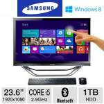 "Samsung Series 7 DP700A3D-A01US All-In-One PC - 3rd Gen. Intel Core i5-3470T 2.90GHz, 6GB RAM, 1TB HDD, DVDRW, 23.6"" Display, Windows 8 64-bit, Keyboard & Mouse"