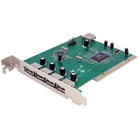 Startech 7 Port PCI USB Card Adapter - USB adapter - PCI - USB, USB 2.0 - 7 (PCIUSB7)