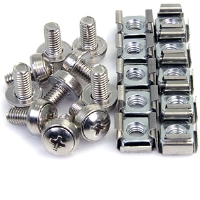StarTech CABSCREWM6 M6 Mounting Screws and Cage Nuts - 50 Pack
