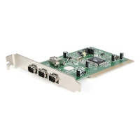 Startech 4 Port PCI 1394a FireWire Adapter Card with Digital Video Editing Kit - FireWire adapter - PCI - Firewire - 4 (PCI1394_4)