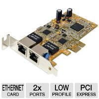 StarTech.com ST1000SPEXD2 Low Profile Dual Port Gigabit Network Server Adapter NIC Card - 2x Ports, RJ-45, 10/100/1000 Mbps, PCI Express x1, Low Profile