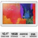 10.1? (2560 x 1600) TFT LCD Display, Android 4.4 KitKat, 16GB Storage, 2GB Memory, 8MP Rear/2MP Front Camera, WhiteSM-T520NZWAXAR