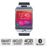 Samsung Gear 2 Smart Watch - Fitness Features, 1.6in. Super AMOLED Display, Titan Silver - SM-R3800VSAXAR