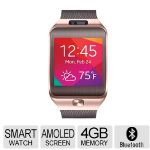 Samsung Gear 2 Smart Watch - Fitness Features, 1.6in. Super AMOLED Display, Brown Gold - SM-R3800GNAXAR