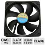 Masscool 80mm Ball Bearing Black Case Fan