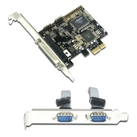 Masscool XWT-PCIE05 2-Serial and 1-Printer PCI Express Card - PCI Express x1, 2 x Serial Ports (Bracket Module), 1 x Parallel Port