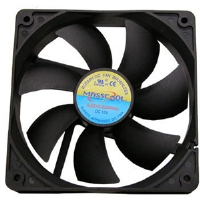 Masscool FD14025S1L3/4 140mm Sleeve Case Fan - 3 & 4 pin