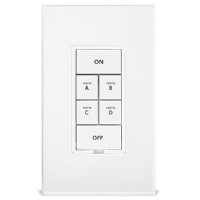 KeypadLinc Dimmer Insteon Keypad with Dimmer - 6 button control, White