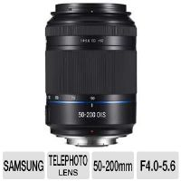 Samsung EX-T50200IB/US NX 50-200mm Telephoto Zoom Lens - F4.0-5.6 Maximum Aperture, Optical Image Stabilizer