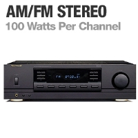 Sherwood Stereo Receiver - AM/FM, PLL Synthesized, System Illumination, Sleep Timer, DAS - RX-4105