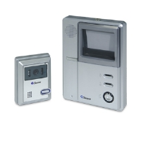 "Swann SW244-BVD Video Doorphone - High Resolution Intercom, Black and White, 4"" CRT Screen, Push Button Door Open"