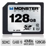 Monster MIL-SPEC SD Card - 128GB, SDXC CLASS 10  - FSD-0128