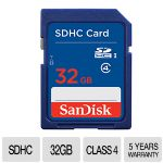 SanDisk Standard 32 GB SDHC Flash Card