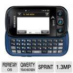Sprint Samsung Seek M350 Locked Cell Phone - Touchscreen, QWERTY Keyboard, 1.3 Megapixel Camera, Bluetooth, Memory Card Slot, Black/Blue, Class B, Pre-owned (SPHM350ZKS)