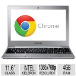 "Samsung 11.6"" Chromebook - Intel Celeron N2840 Processor, 4GB RAM, 16GB SSD Storage, 2.16GHz Dual-Core, Intel HD Graphics, Integrated Webcam, Multi-gesture Touchpad, LED Backlight - XE500C12-K02US"