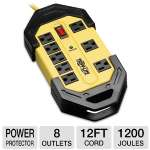 Tripplite TLM812SA Rugged Surge Protector - 1200 Joule, 8 Outlets, Yellow, 12-Foot Cord