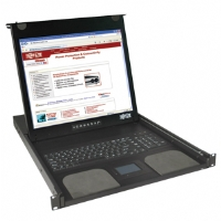 "Tripplite B021-000-19 1U Rackmount Console - 19"" LCD, Touch Pad, 1280 x 1024 Video Resolution, 88 Keyboard, Steel Housing"