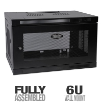 Tripp Lite 6U Wall Mount Rack Enclosure Cabinet Wallmount with Doors & Sides 200lb (SRW6U)