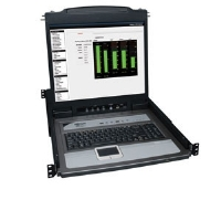 "Tripp Lite B020-U08-19-K Console KVM Switch - 8 Port Net Director, Rackmount Console, 19"" LCD, 8 PS2/USB Combo Cables"