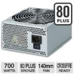 Coolmax ZX-700 700W Power Supply - 700W, ATX, 80 Plus, 140mm Fan, NVIDIA SLI, ATI CrossFire
