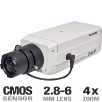 Toshiba IK-WB30A WB30A-KIT28-6DN IP Network Video Camera - 2.8-6MM Day/Night Lens, JPEG, MPEG-4, CMOS, 4x Zoom