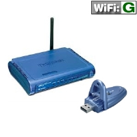 TRENDnet TEW-432BRP Wireless G Router & TRENDnet TEW-424UB 54Mbps USB2.0 Wireless Adapter Bundle
