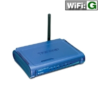 TRENDnet TEW-432BRP Wireless G Router - 54Mbps, 802.11g, 4-Port