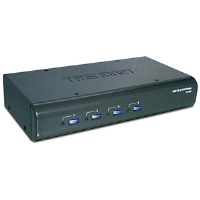 TRENDnet TK-423K KVM Switch - 4-Port, USB, PS/2, Audio (All Cables Included)