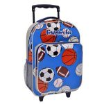 Traveler�s Too Motion-Activated LED Rolling Backpack, Sports Balls Art Print