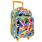 Traveler�s Too Motion-Activated LED Rolling Backpack, Colorful Crayon Art Print